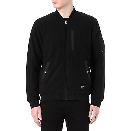 STUSSY Polar fleece MA1 jacket (Black
