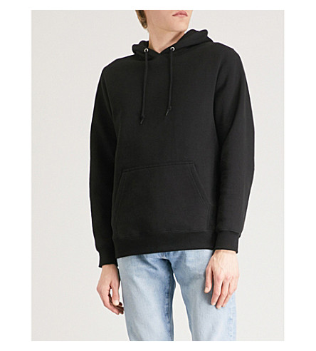 STUSSY Arch cotton-blend hoody (Black