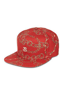 STUSSY Chain print snapback cap