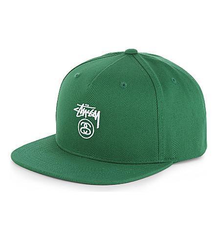 STUSSY SS Stock cotton snapback cap (Green