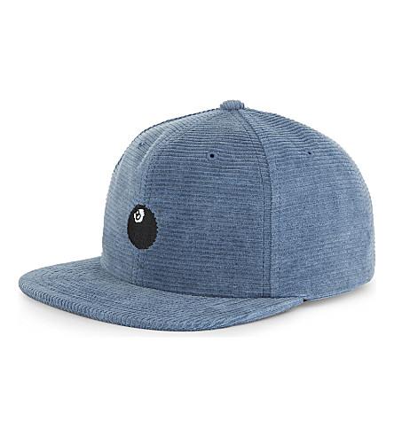 STUSSY 8 Ball corduroy strapback cap (Navy