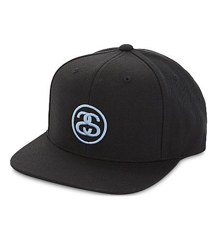 STUSSY SS Link snapback cap (Black