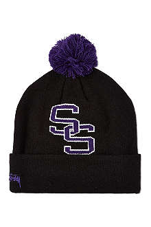 STUSSY College bobble beanie hat