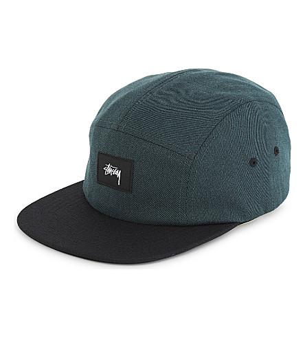 STUSSY Melange twill strapback cap (Green