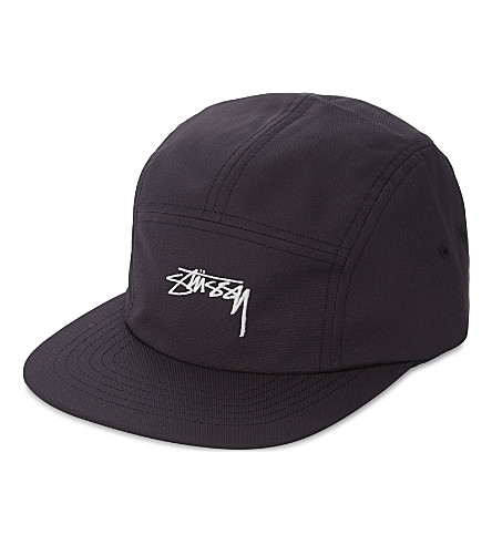 STUSSY Stock script five-panel strapback cap (Navy