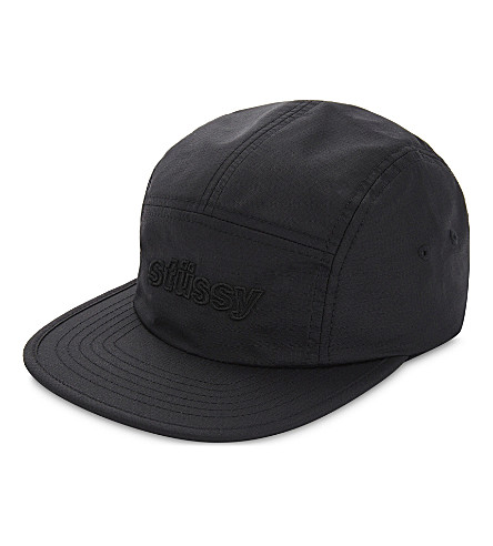 STUSSY Logo micro-ripstop nylon baseball cap (Black
