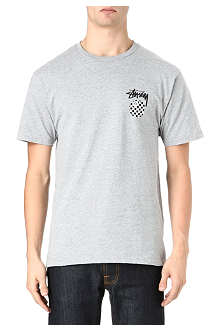 STUSSY 8-ball check t-shirt
