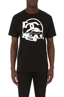 STUSSY 8 ball car t-shirt
