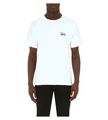 STUSSY Basic logo t-shirt (White