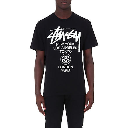 STUSSY World tour t-shirt (Black