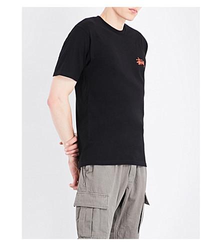 STUSSY Logo-print cotton-jersey T-shirt (Black