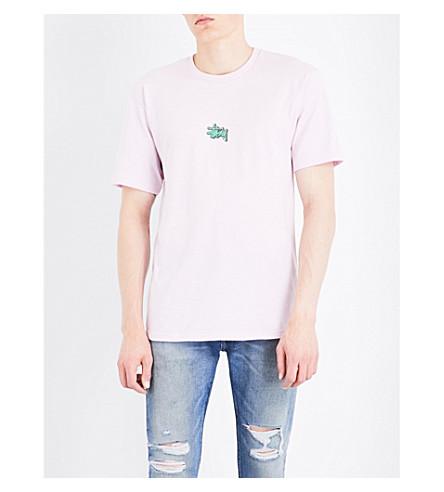 STUSSY Mini logo-print cotton-jersey T-shirt (Light+lavender