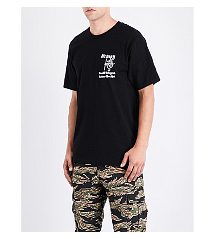 STUSSY Hotter Than Hell cotton-jersey T-shirt (Black