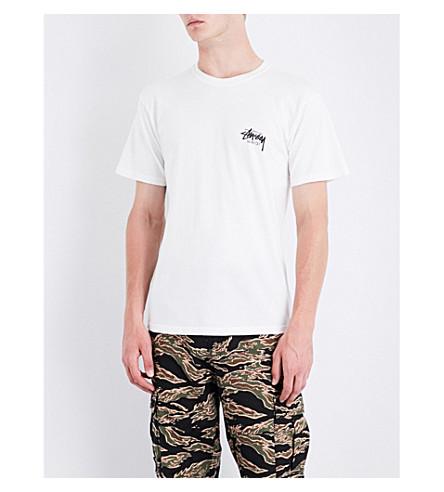 STUSSY Poseidon cotton-jersey T-shirt (Natural