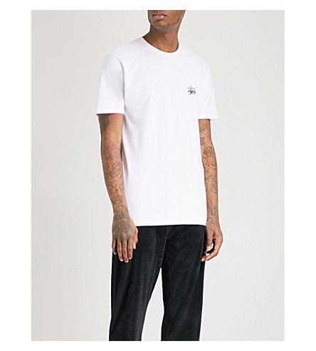 STUSSY Basic cotton-jersey T-shirt (White