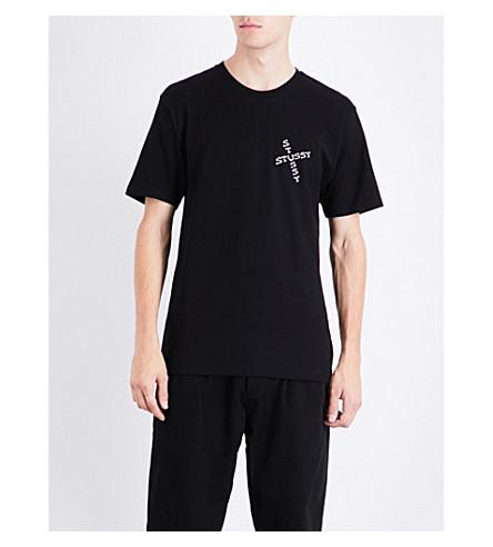 STUSSY Hippie Skull cotton-jersey T-shirt (Black