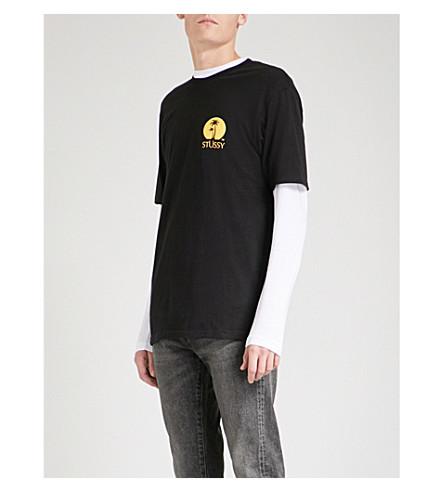 STUSSY Sundown cotton-jersey T-shirt (Black