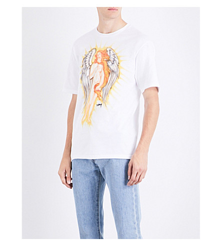 STUSSY Venus Angel cotton-jersey T-shirt (White