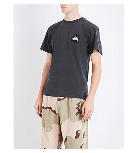 STUSSY Basic Swirl cotton-jersey T-shirt (Black