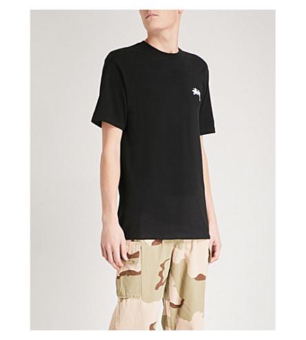 STUSSY Printed cotton-jersey T-shirt (Black