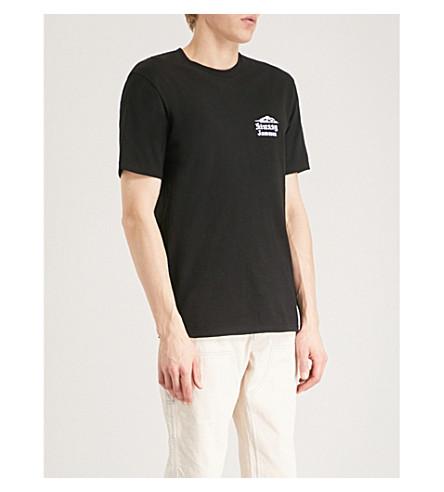 STUSSY Jamaica-print cotton-jersey T-shirt (Black