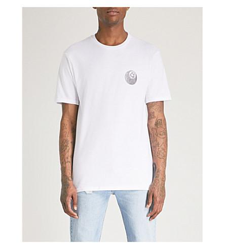 STUSSY Reaper-print cotton-jersey T-shirt (White