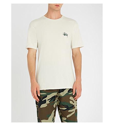 STUSSY 基本平纹针织棉 T 恤 (天然