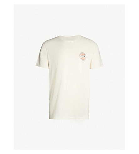 STUSSY Logo-print cotton-jersey T-shirt (Natural