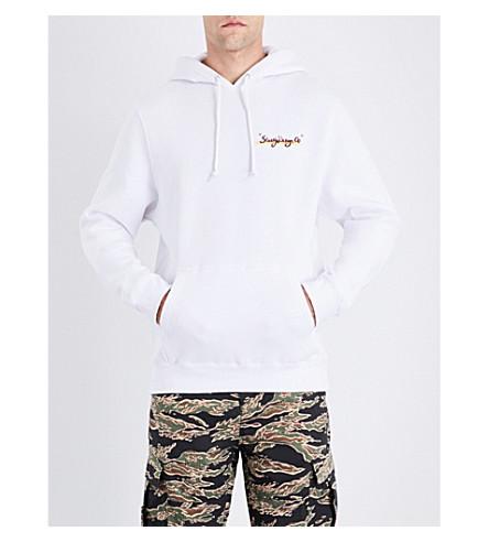 STUSSY Sunset cotton-jersey hoody (White