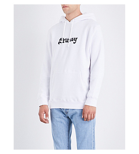 STUSSY Death Valley cotton-blend hoody (White