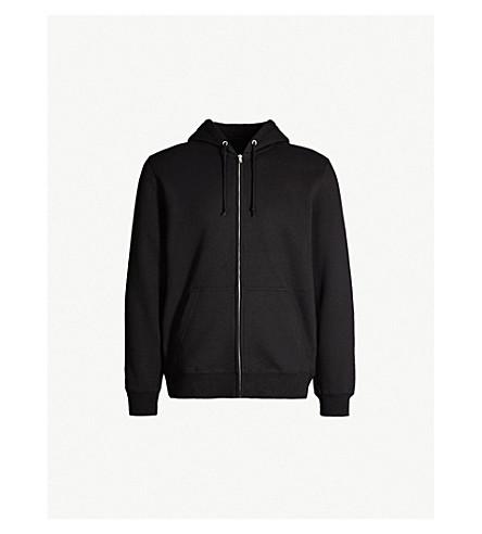 STUSSY Graphic logo-back cotton-jersey hoody (Black