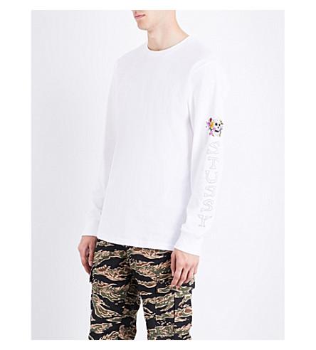 STUSSY Hippie Skull cotton-jersey top (White