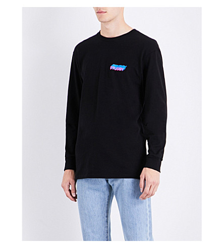 STUSSY Hold a Medz cotton-jersey top (Black