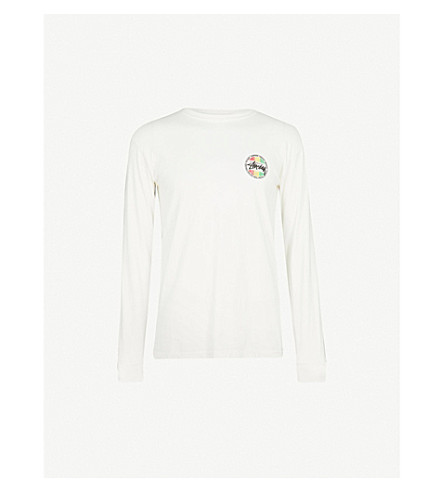 STUSSY Logo-detail cotton-jersey top (Natural