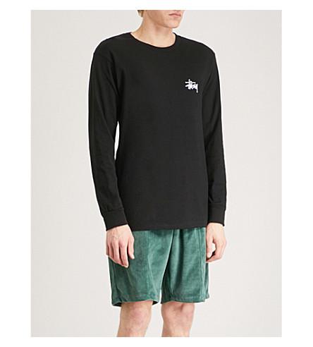 STUSSY Pin up-print cotton-jersey T-shirt (Black