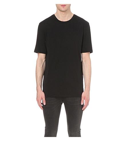 HELMUT LANG Crewneck cotton-jersey t-shirt (Black