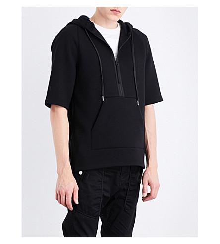 HELMUT LANG Short-sleeved neoprene hoody (Black