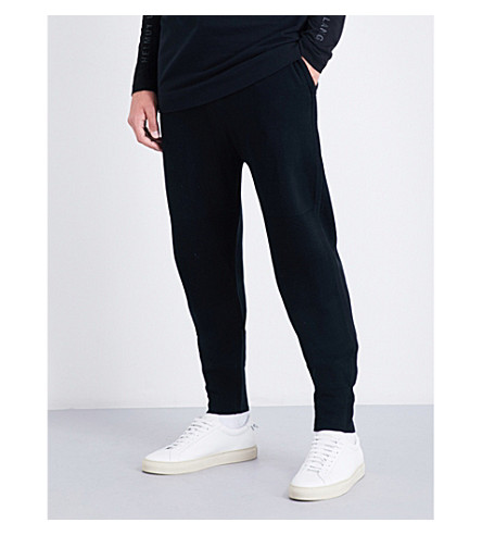 HELMUT LANG Ottoman cotton-blend jogging bottoms (Black