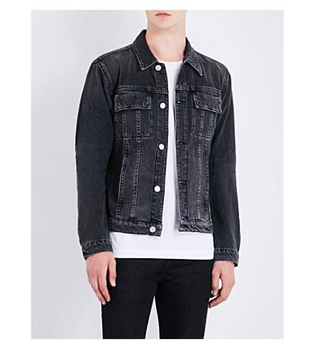 HELMUT LANG Faded denim jacket (Coal+wash