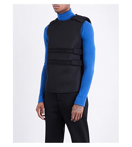 HELMUT LANG Ballistic neoprene vest (Black