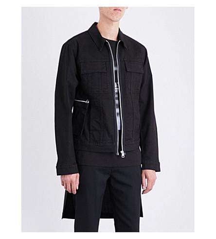 HELMUT LANG Hand-print denim jacket (Black