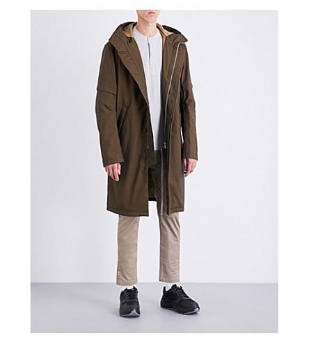 HELMUT LANG Hooded shell parka coat (Bronze