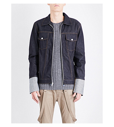 HELMUT LANG Re-Edition Fisherman-cuffs denim jacket (Indigo