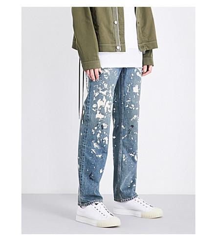 HELMUT LANG Re-Edition Painter regular-fit straight jeans (Paint+splatter