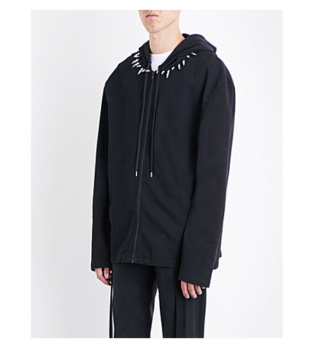 HELMUT LANG Re-Edition studded cotton hoody (Black