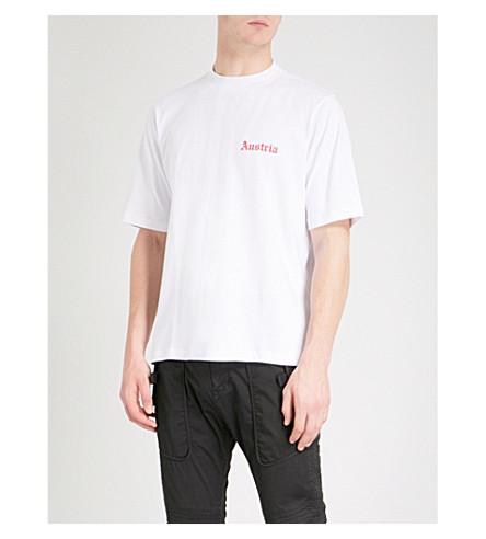 HELMUT LANG Austria cotton-jersey T-shirt (White