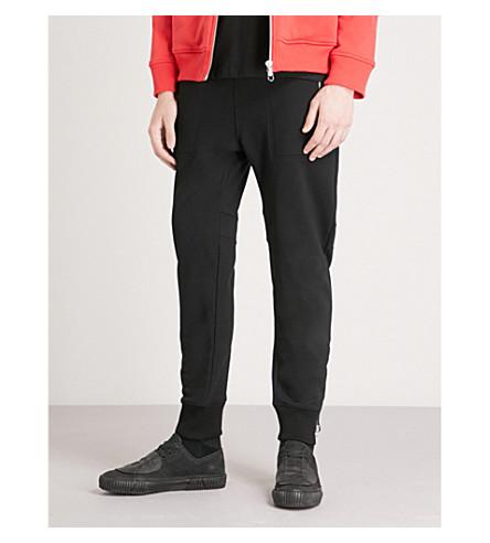 HELMUT LANG Zipped cotton-jersey jogging bottoms (Black