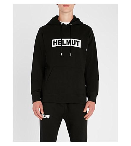 HELMUT LANG Logo-print cotton-jersey hoody (Black