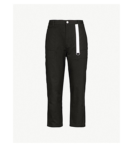 HELMUT LANG Relaxed-fit cotton-canvas pants (Black