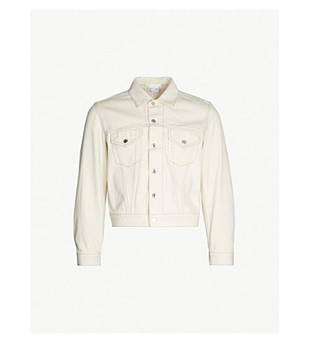 HELMUT LANG Contrast-stitching denim trucker jacket (Natural